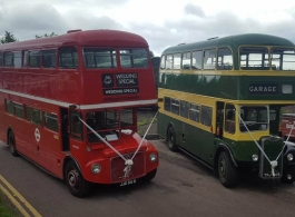 72 seat Red routemaster wedding bus in Worcester