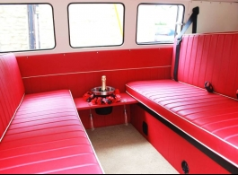 Classic 1960s Campervan for wedding hire in Towcester