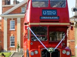 Double Decker London Bus for weddings in London
