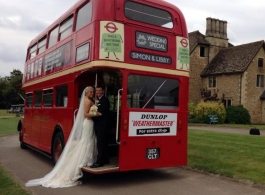Classic Red London Bus for wedding hire in Cardiff