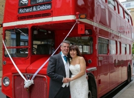Classic Red London Bus for wedding hire in Richmond