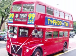 Red London Bus for weddings in Reigate