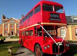 Classic Red London Bus for weddings in Oxford