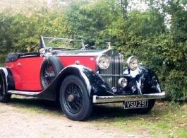 1930s Rolls Royce for weddings in Ashford