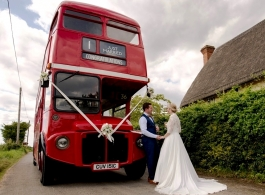 Red Routemaster Bus for weddings in Norwich