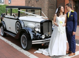 Vintage wedding car for hire in Harlow