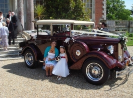Vintage wedding cars for hire in Bournemouth