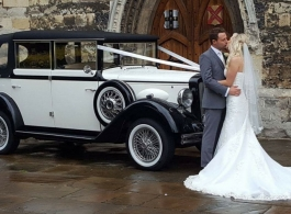Vintage Regent wedding car for hire in Potters Bar