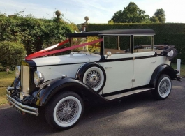 Vintage style Regent wedding car hire in London