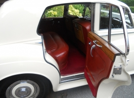 White Rolls Royce Silver Cloud for wedding hire in Epsom