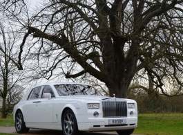 White Rolls Royce for weddings in Cheshunt