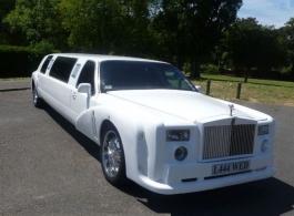 Replica Rolls Royce Phantom Limousine for weddings in in London