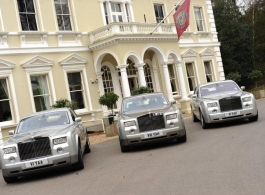 Silver Rolls Royce Phantom for weddings in Twickenham