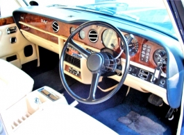Blue Rolls Royce Silver Shadow for weddings in Richmond