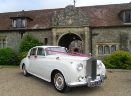 White Rolls Royce for weddings in Rochester