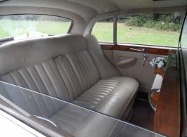 Classic white Rolls Royce wedding car in Ringwood
