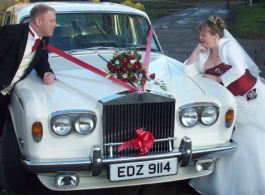 Rolls Royce Silver Shadow for weddings in Nottingham