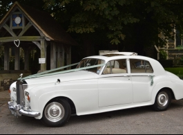 White Rolls Royce Silver Cloud wedding car in Maidstone
