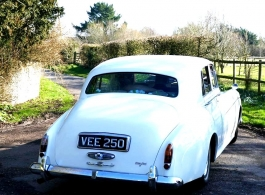 White Rolls Royce for wedding hire in Croydon