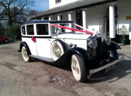 White Rolls Royce for wedding hire in Hampshire