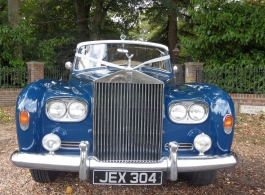 White Rolls Royce Limousine wedding car in Poole
