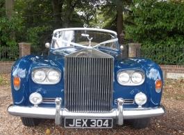 White Rolls Royce Limousine wedding car in Poole