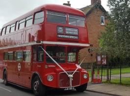 Red Routemaster Bus for weddings in Birmingham