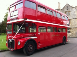 Red London Bus for weddings in Bristol