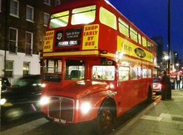 Red Routemaster wedding bus for hire in London