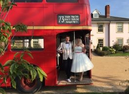 Red Routemaster wedding bus hire in Chepstow