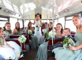 Classic Red Bus for weddings in Cromer