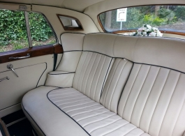Classic White Rolls Royce for weddings in Christchurch