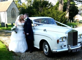 Rolls Royce Silver Cloud for weddings in Sevenoaks