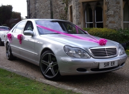 Silver Mercedes for weddings in Sittingbourne