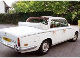 Rolls Royce Silver Shadow wedding car in Dartford