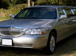 Silver Limousine for weddings in Braintree
