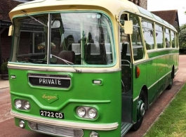 1961 single deck bus for weddings in Chichester