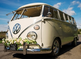 Splitscreen Campervan for weddings in Haywards Heath