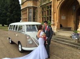 Splitscreen Campervan wedding hire in Northampton
