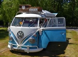 Splitscreen VW Campervan for weddings in Stroud