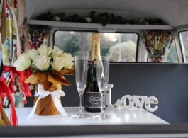 Classic VW Campervan for weddings in Egham
