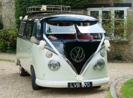 Classic VW Campervan for wedding hire in Northampton