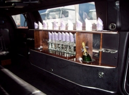 White wedding Limousine for hire in Newbury