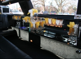White stretch Limousines for weddings in Portsmouth