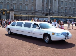 White stretch Limousine for weddings in Chichester