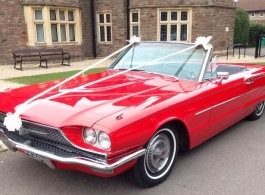 Ford Thunderbird convertible for weddings in Bristol