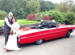 1966 Ford Thunderbird for weddings in Clevedon