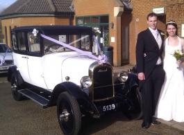 Vintage 1920s wedding car hire in Milton Keynes