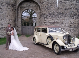 Vintage wedding car hire in Faversham