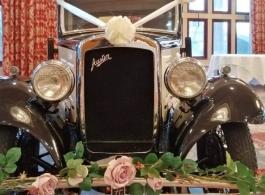 Vintage wedding car hire in Brighton